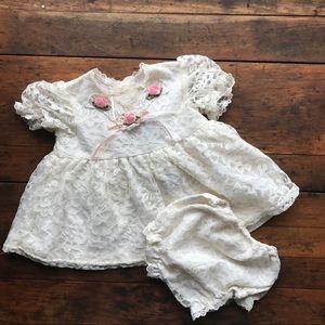 Vintage Brooke Lindsay Cream Lace Dress